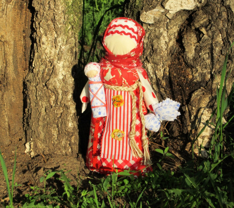 Народная тряпичная кукла Берегиня дома.