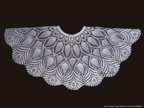 Белая юбка, связанная крючком