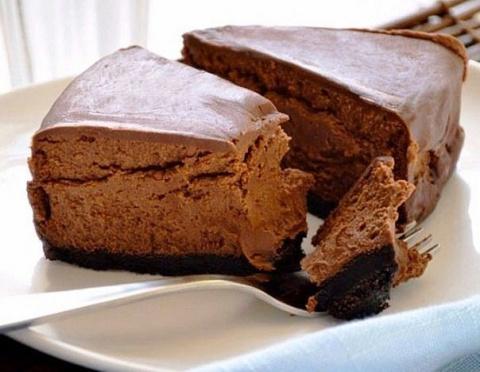 Шоколадный чизкейк, для тех кто на диете