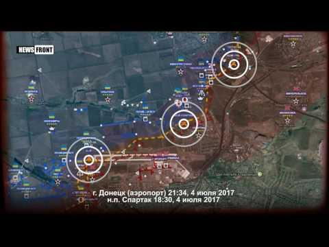 ДНР: карта обстрелов Украиной в ночь на 5 июля 2017