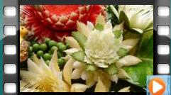 Карвинг (вырезание) из овощей и фруктов. Идеи для украшения стола