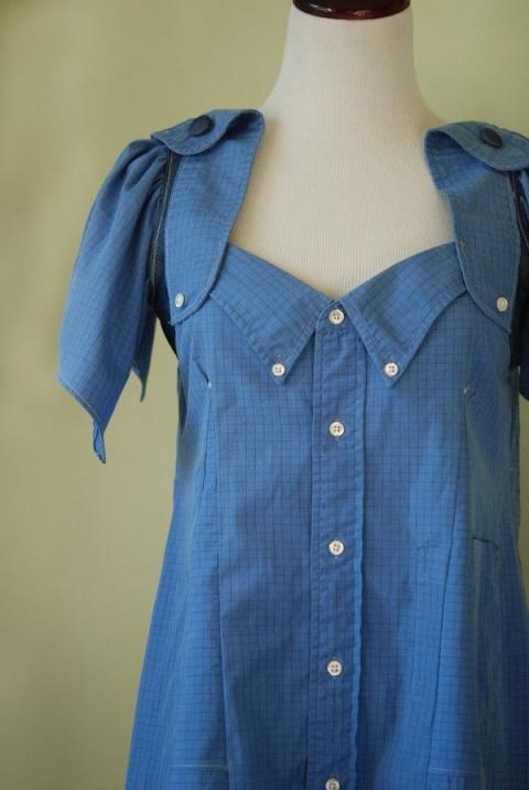 Очередная порция переделок  рубашек в женскую одежду