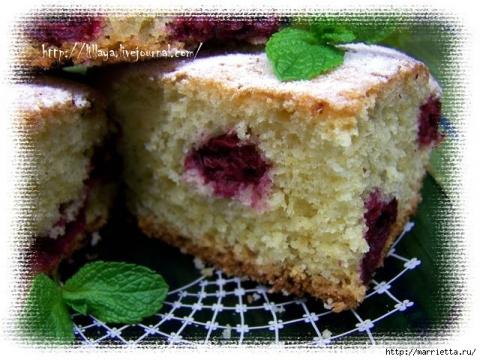 Вишневый пирог ( вкусно и быстро!)