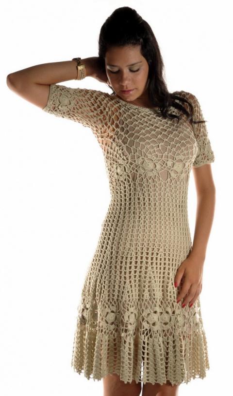 Вязаные крючком платья - для вдохновения