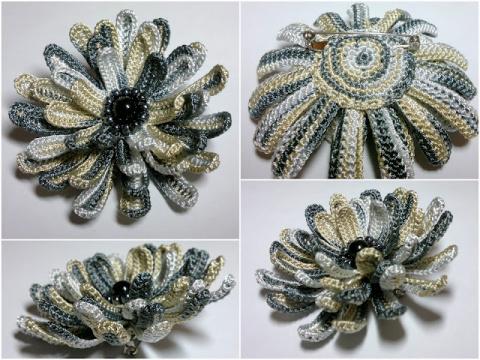 ПЕТЕЛЬКА К ПЕТЕЛЬКА. Многоярусные цветы (2 варианта)