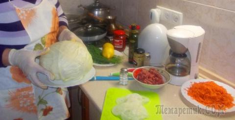 Капуста приготовленная с ово…