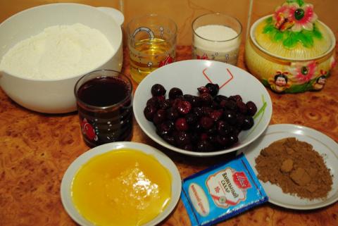 Вишнево-шоколадный кекс (постный) готовимся к Рождественскому Сочельнику