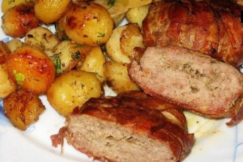 Мясо в беконе по-ирландски
