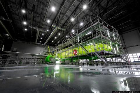 Покраска самолётов S7 Airlines в Минеральных Водах