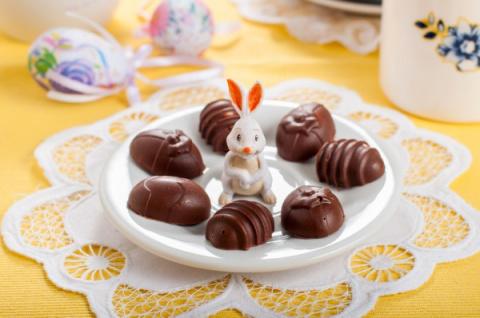 Шоколадные трюфели в виде па…