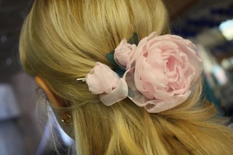 Нежный цветок из ткани - МК …