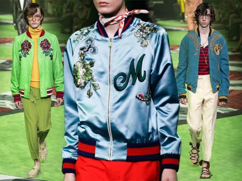 Style Notes: какие вещи из мужской коллекции Gucci весна-2017 мы бы хотели «украсть» себе?