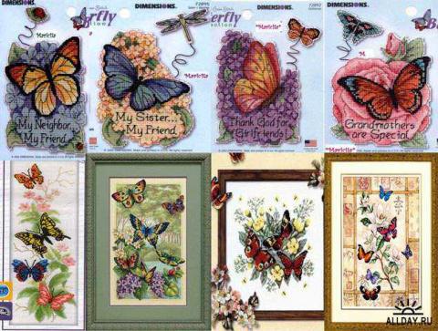 Ищу схемы вышивок бабочек