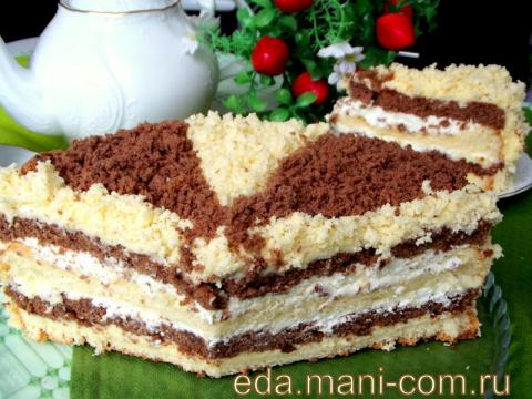 Десертный вихрь. Махровый торт « Кудряш»