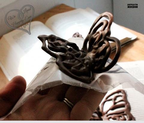 МАСТЕРИЛКА. Шоколадная бабочка