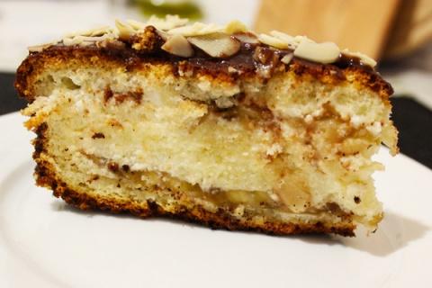 Банановый торт со сливочным …