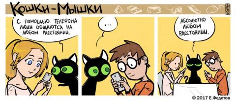 Кошки, мышки и странные людишки. Милые российские комиксы