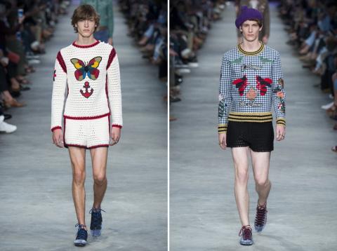 Странная мужская мода этого года от Gucci