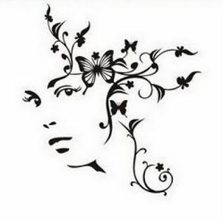 Трафареты, шаблоны, картинки девушек и фей
