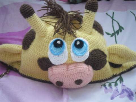 Шапка-жираф (крючок)