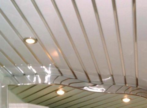 Реечные потолки для ванной комнаты: лучшее на сегодня решение.