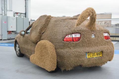 Парень превратил машину в пушистую собаку