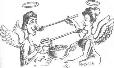 Притча о Пророке и длинных ложках