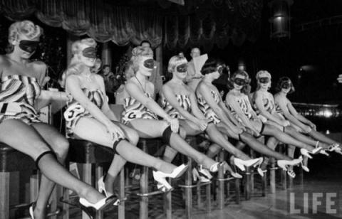 Конкурс женских ножек в США в 1949 году