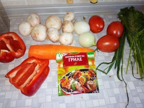 Куриные шеи с овощами