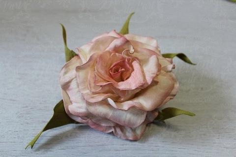 """Мастер-класс """"Классическая роза"""" из фоамирана."""