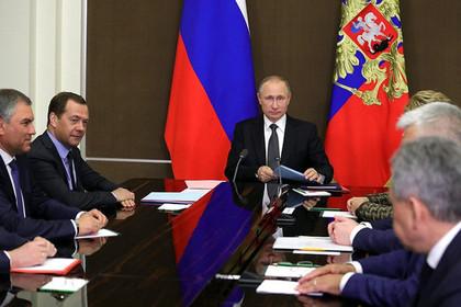Путин провел заседание Совбеза