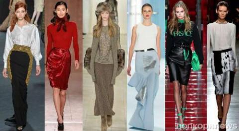 Фото обзор: модные юбки осен…