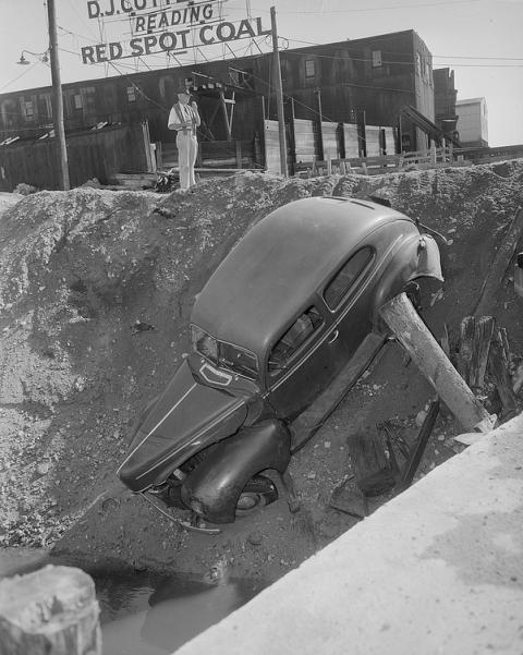 ДТП на фото 40-х годов