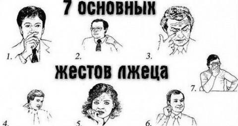 7 наиболее распространенных жестов обмана