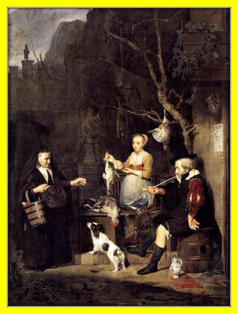 Торговка птиц.1662г.