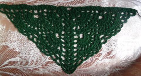 Два варианта веерного узора для шали