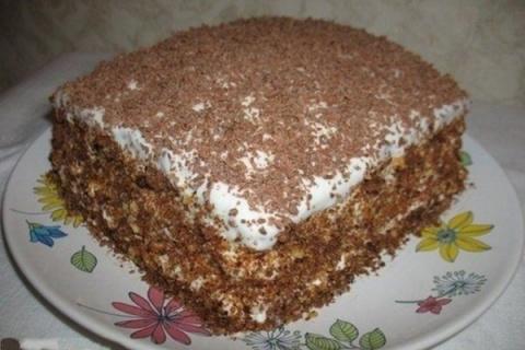 Торт «Мечта» на бисквите