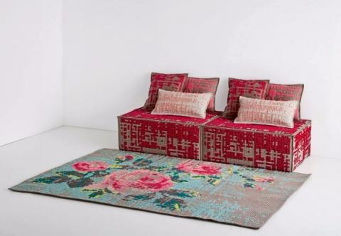 Шикарные идеи ковров и пуфов