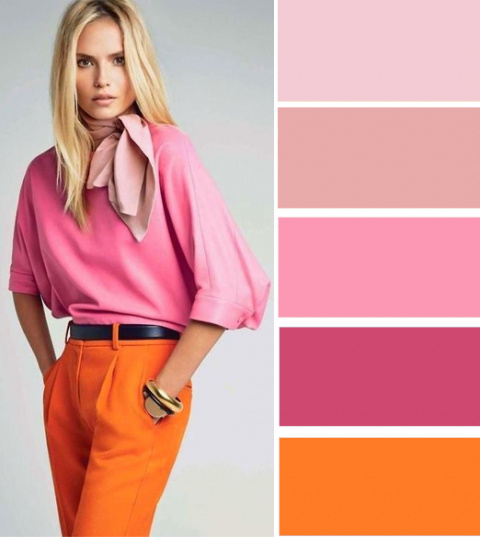 Модные цветовые схемы с оран…