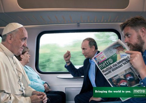 Путин, Обама и королева Елизавета рекламируют газету
