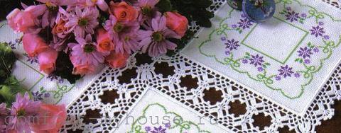 Красивая салфетка с вышивкой…