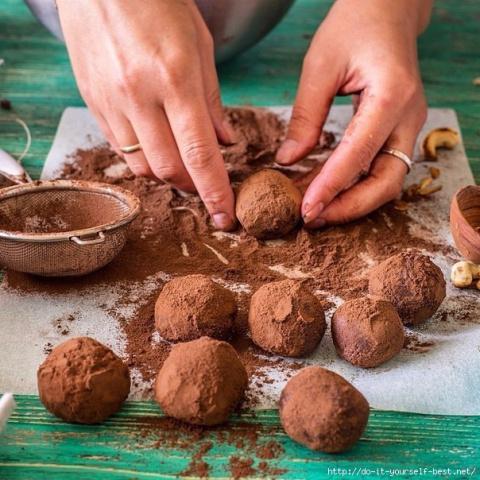Десертный вихрь. Шоколадно-кофейные трюфели