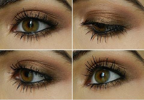 Вечерний макияж с бронзовыми тенями