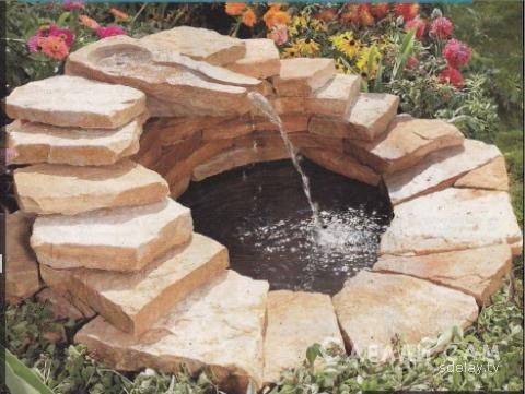 Декоративный пруд с ручейком…