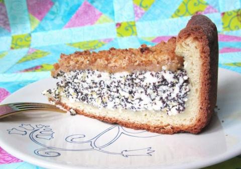 Маково-творожный пирог