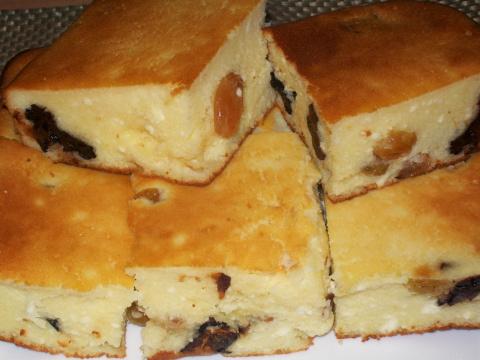 Творожный пирог с черносливом - сама нежность!