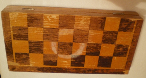 ключница из шахматной доски