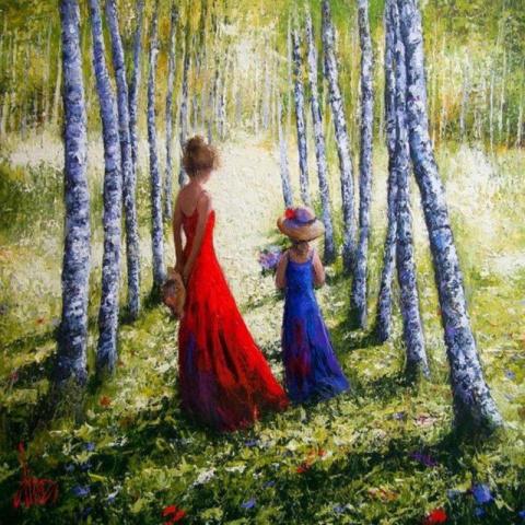 Мир солнечного детства моего… Художник Дмитриев Дмитрий