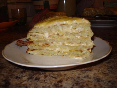 Ленивый картофельный пирог- …