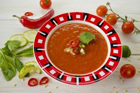 ПОХУДЕЙКИНЫ РЕЦЕПТЫ. Холодный томатный суп — Гаспачо